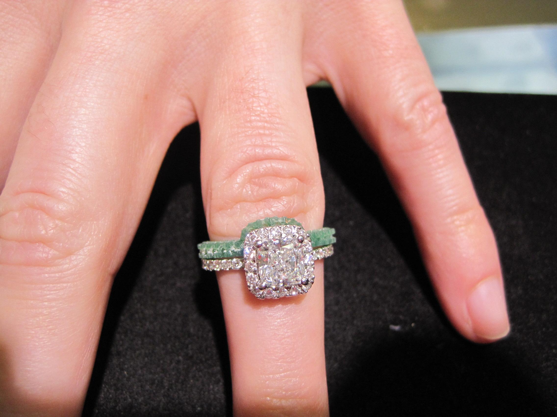 diamond engagement ring wedding band
